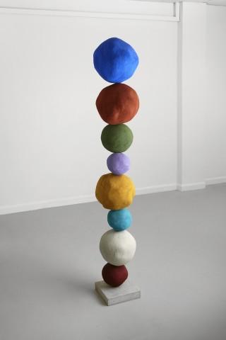 Annie Morris, Stack 8, Ultramarine, 2014