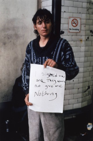 Gillian Wearing, I signed on and they would not give me nothing., 1992-3