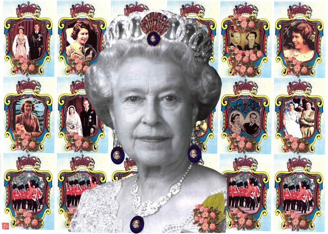Not Just Any Queen (triptych)