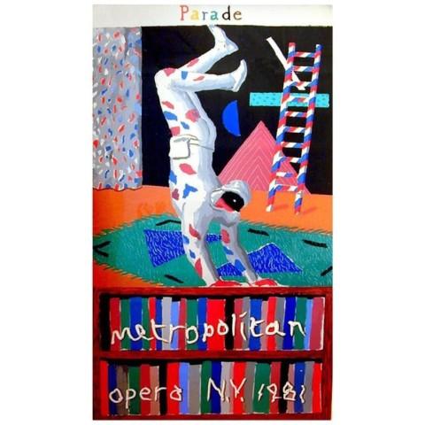 David Hockney, David Hockney Original Poster 'Parade' Screen Print , 1981