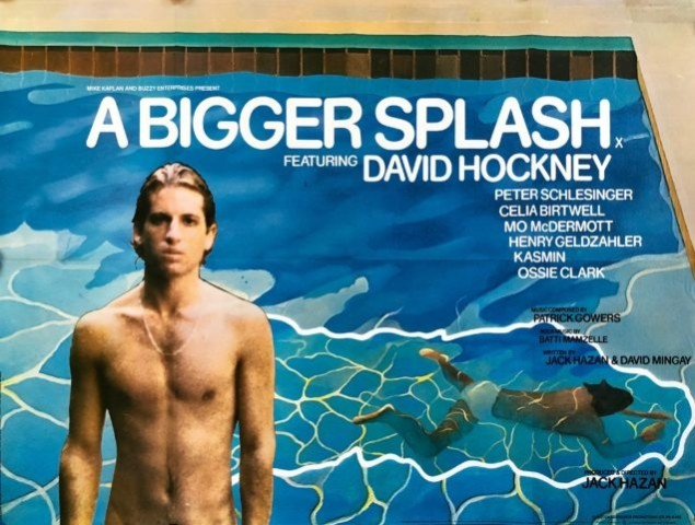David Hockney, David Hockney Original Film Poster 'A Bigger Splash' , 1974
