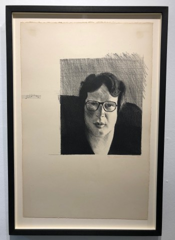 David Hockney Lithograph Michael Crichton For Sale
