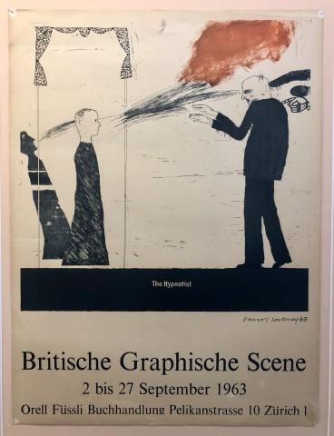 Britische Graphische Scene 'The Hypnotist' 1963
