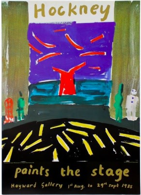 David Hockney, Hand Signed Hockney 'Paints the Stage' Original Poster, 1985