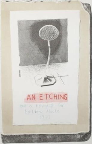 David Hockney, David Hockney Original Poster 'An Etching of a Lithograph' for Editions Alecto , 1973