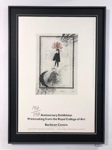 Hockney, David, David Hockney 'Anniversary Exhibition', Poster, 1987, 1987