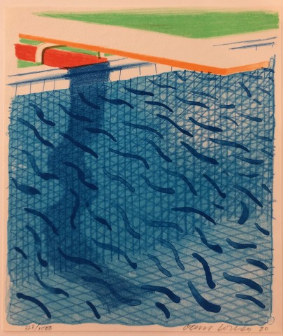 Pool Made with Paper and Blue Ink for Book