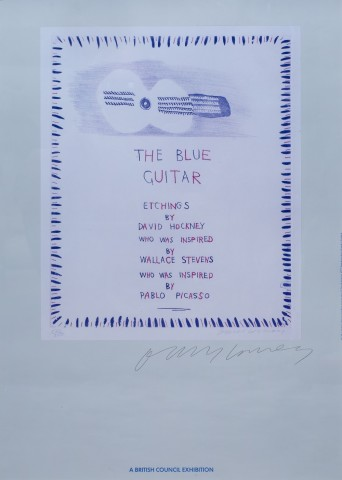 David Hockney, The Blue Guitar: Etchings Hand Signed, 1983
