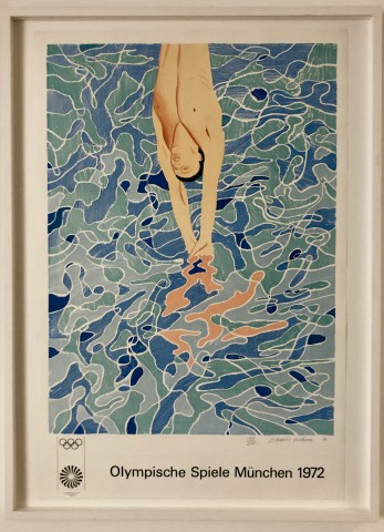 David Hockney, Olympic Games Munich (The Diver) Hand Signed Edition, 1970