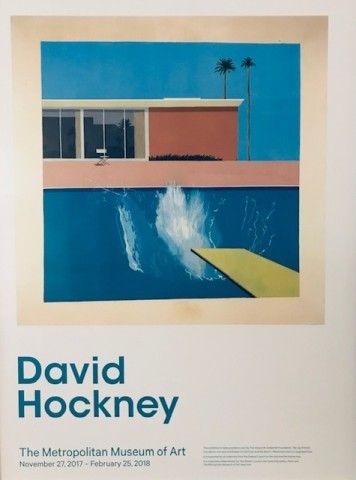 David Hockney, David Hockney Poster 'A Bigger Splash' - Met New York Retrospective, 2017