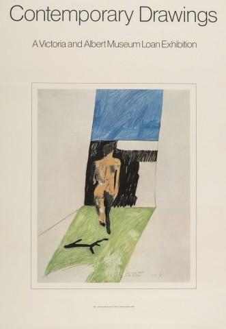 David Hockney, David Hockney Original Poster 'Contemporary Drawings', 1974