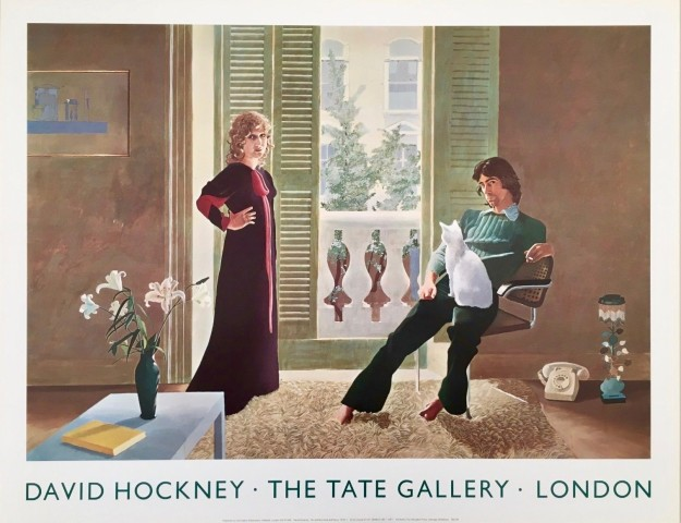 David Hockney Original Poster 'Mr and Mrs Clark and Percy'