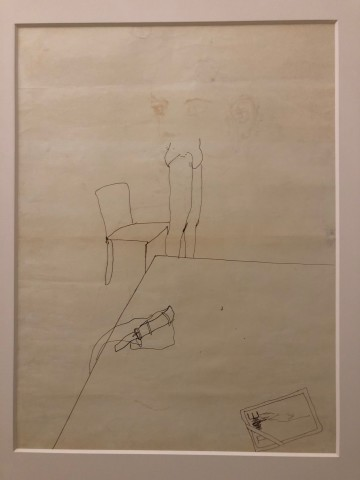 David Hockney, Study for 'Peter Nude, Sitting on Edge of Bed' Ink on Paper Original David Hockney, 1968