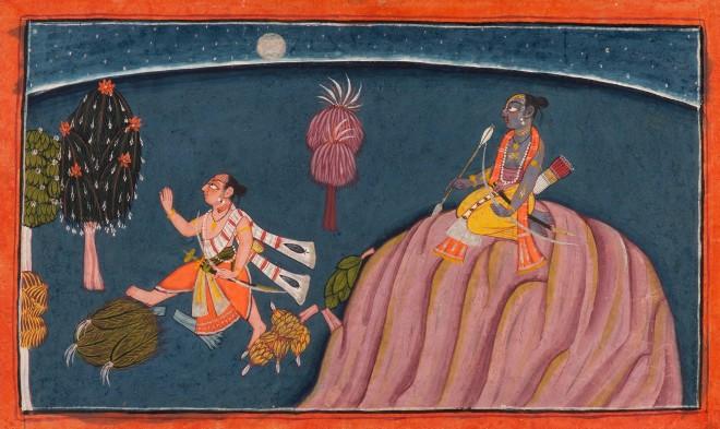 Lakshmana leaves to speak to Sugriva