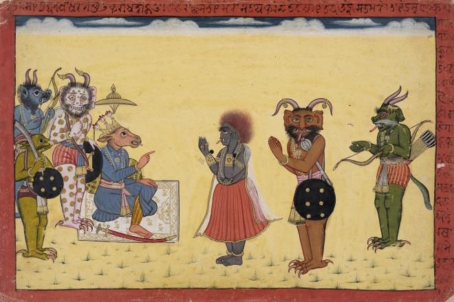 Surphanaka complains to Khara