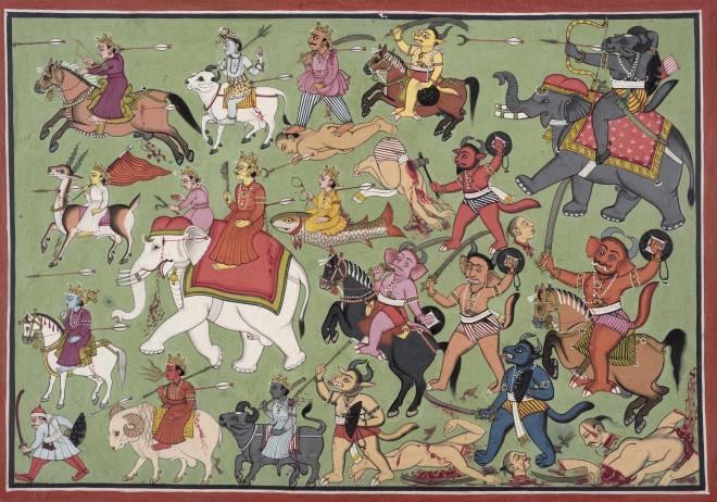 Sumbha's forces advance
