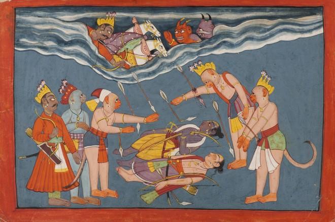 Indrajit attacks Rama and Laxmana
