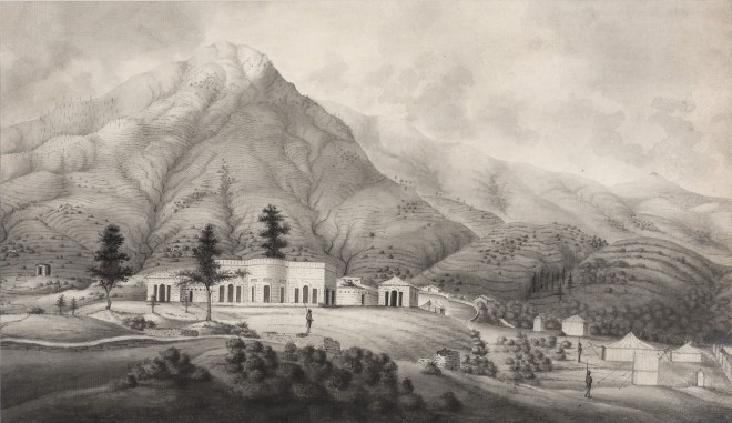 17. Company School, A Company Settlement in the Indian Foothills, Early 19th Century
