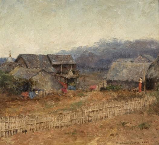 40. Mortimer Menpes RI, RBA, RE (1855-1938), Burmese Village