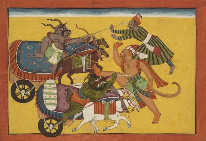 Hanuman confronts Jambumali