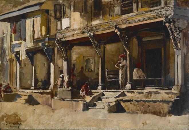 34. Edwin Lord Weeks (1849 - 1903), Merchants in Bombay , c. 1883