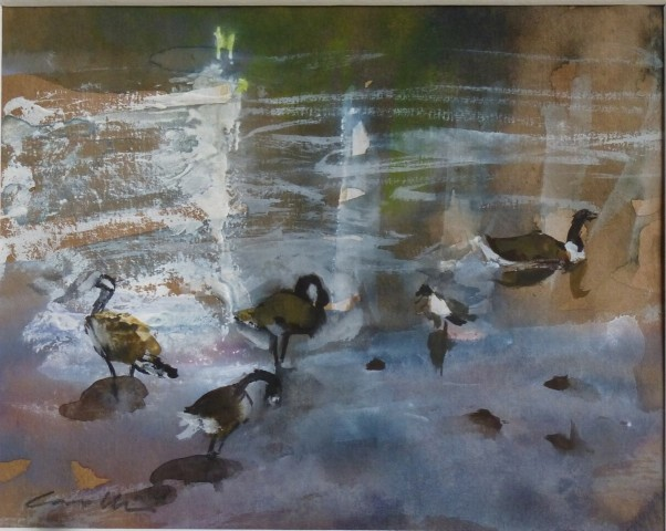 Jane Corsellis, Geese on the Thames
