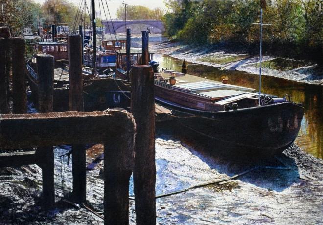Angus McEwan, River Thames Towards Kew Bridge