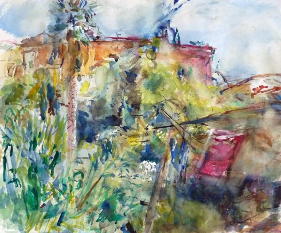 Anthony Eyton RA, Clares Garden