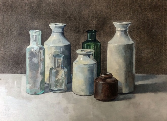 Stuart Robertson, Still Life with Brown Pot