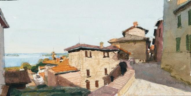John Newberry, Lake Trasimeno from Passignano, Italy