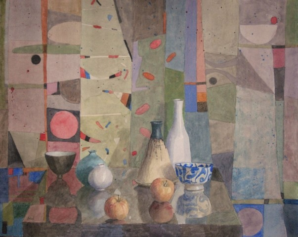 Annie Williams, Still Life with Two Apples