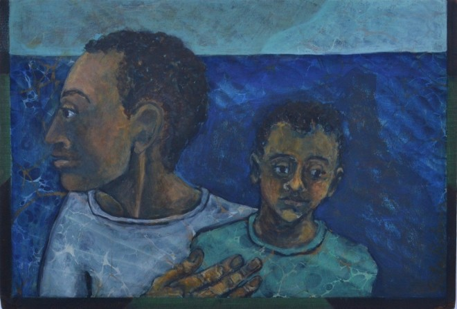 Sula Rubens, Kin Study - Man and Child at Sea