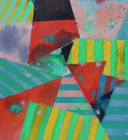 Geoffrey Pimlott, Green Stripes on Yellow