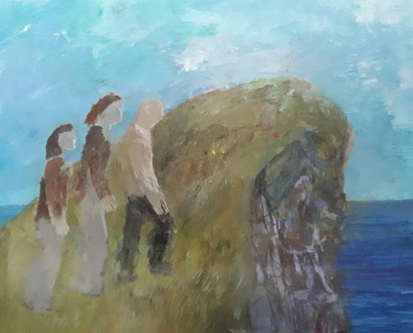Richard Sorrell, Three Lower Middle Class People Climbing a Rock