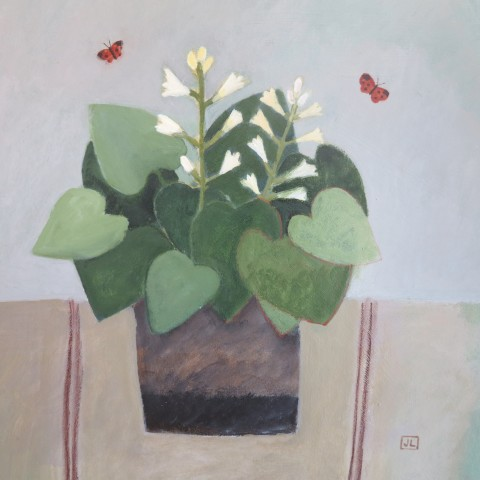 Jill Leman, Hosta and Butterflies
