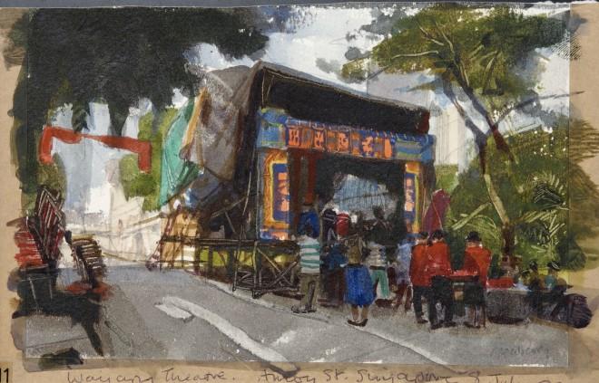 John Newberry, Wayang Theatre, Singapore