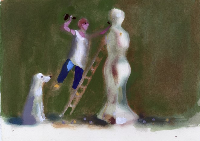 Charles Williams, If I Were A Sculptor (Green, with Dog)