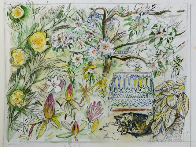 Richard Bawden, Asleep in The Garden