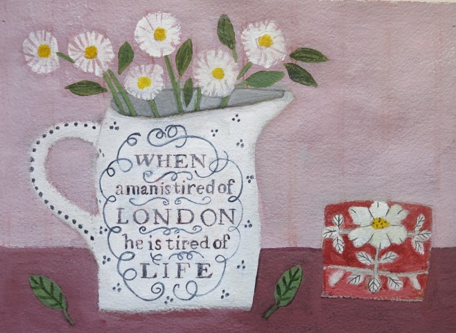 Jill Leman, Daisies in a London Jug