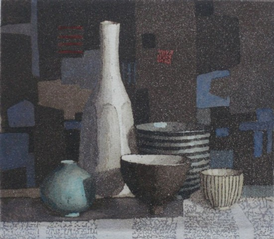 Annie Williams, Still Life with a Touch of Blue