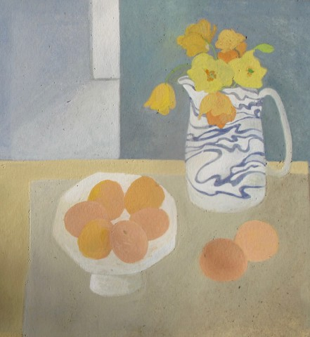 Wendy Jacob, Marbled Jug and Apricots