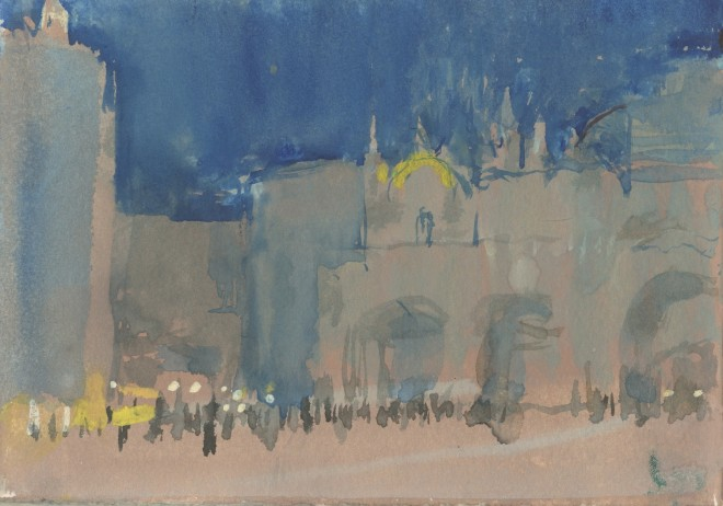 Simon Pierse, St Mark's Square, Evening II, Sketchbook Study
