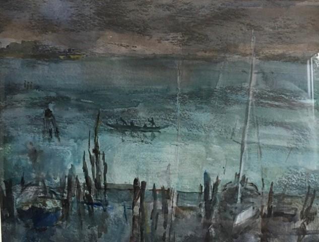 Jane Corsellis, The Lagoon, Venice