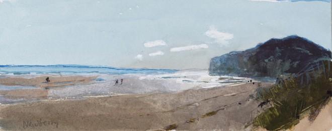 John Newberry, Sun on Clouds, Playa de Berria, Spain