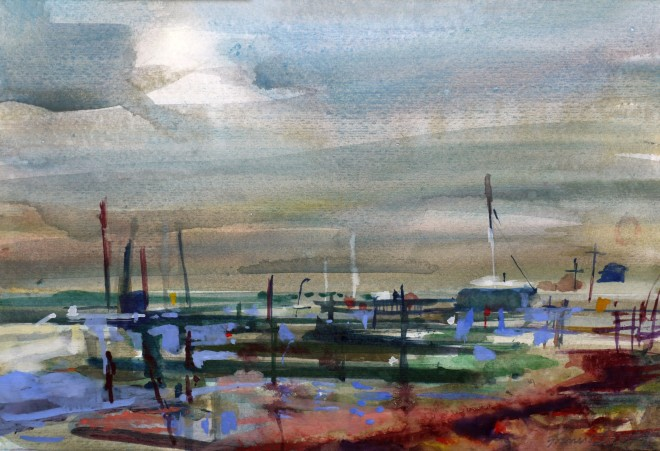 Francis Bowyer, Jetties, Late Afternoon, Southwold