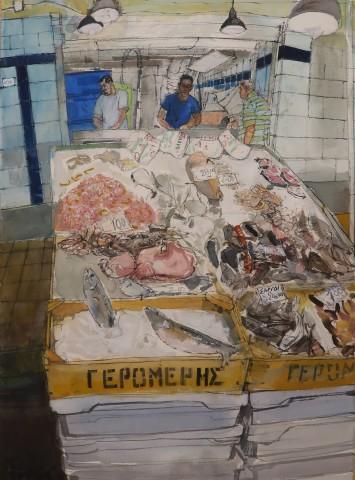 Peter Quinn, Crete, In the Fish Market