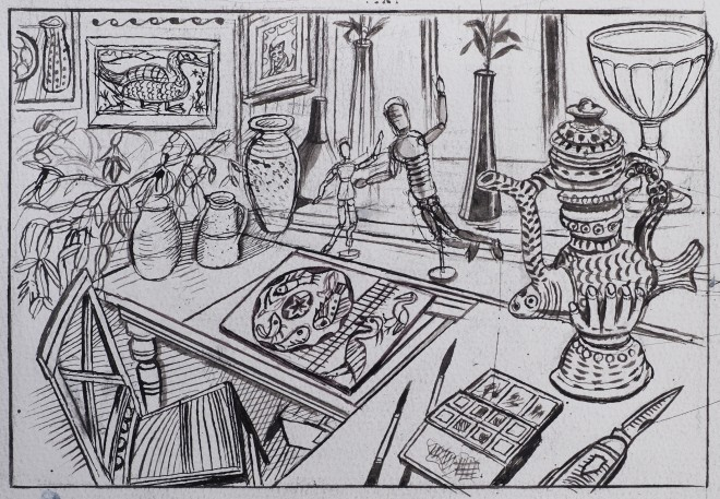 Richard Bawden, My Studio