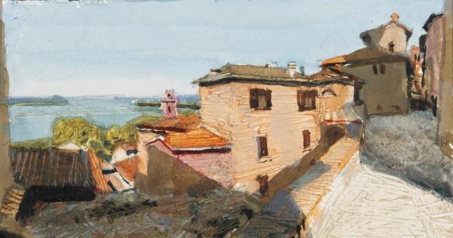 John Newberry, View from Passignano, Italy