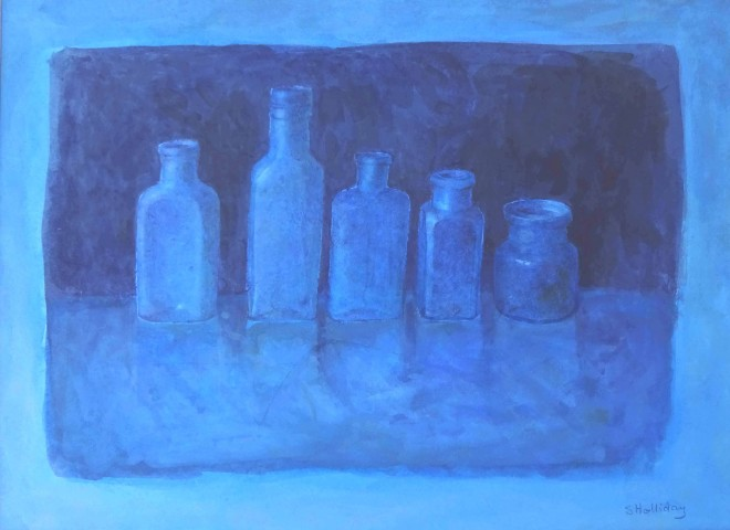 Sarah Holliday, Five Blue Bottles
