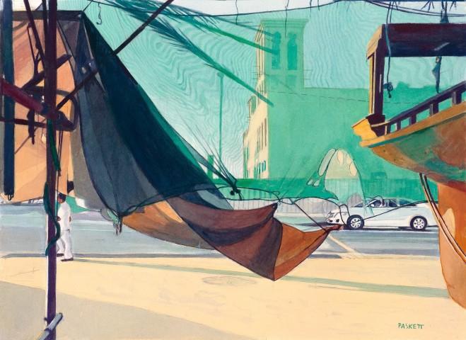 David Paskett, From the Rowing Dhow Boatyard, Dubai